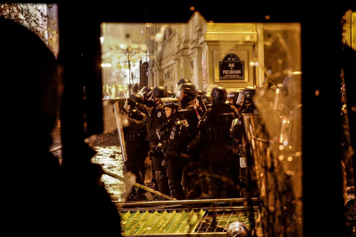Police used stun grenades, tear gas and water cannon on protesters at the top of the Champs-Elysees boulevard and multiple sites across the city, including Opera Bastille and Place de la Bastille.