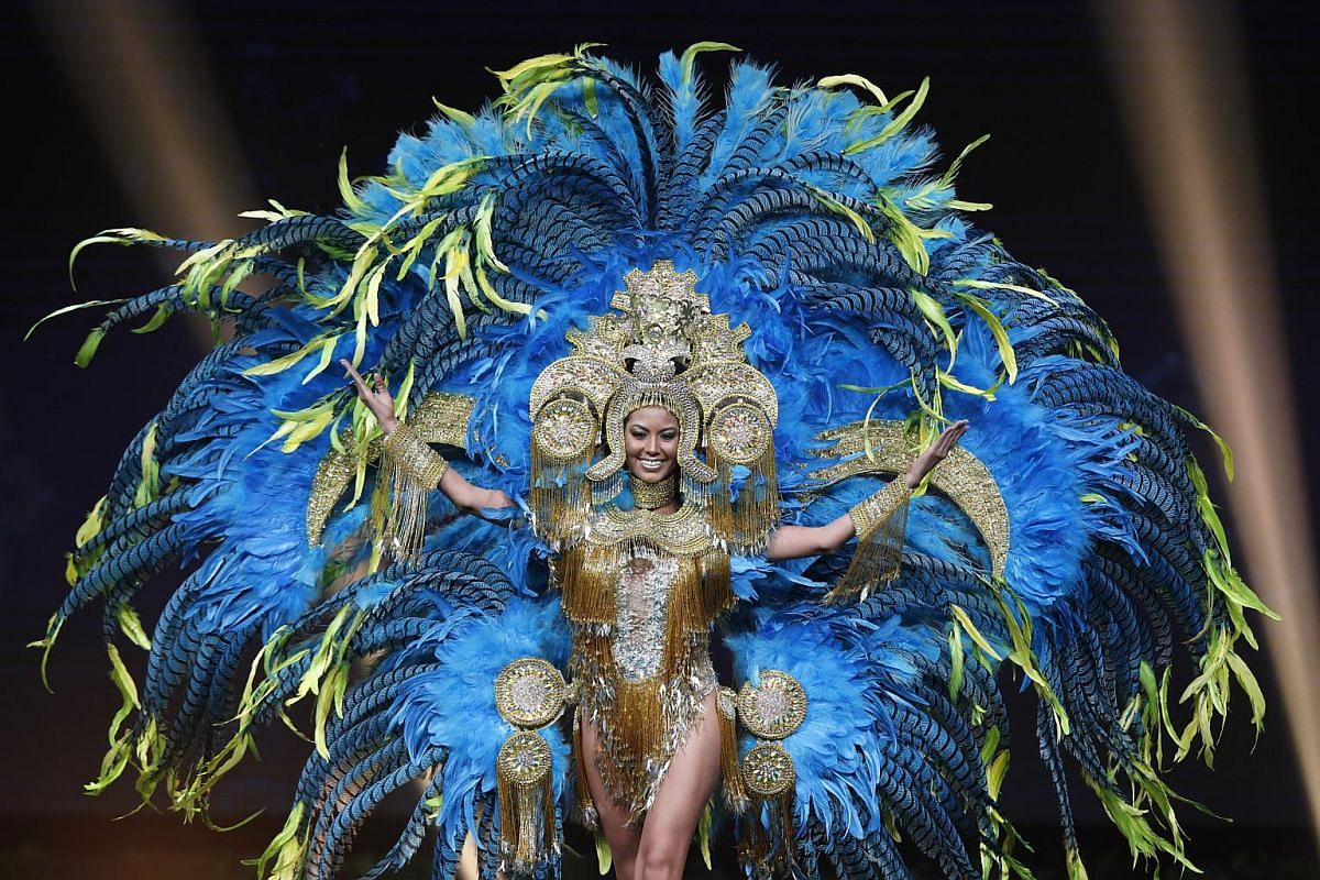 Miss Panama, Rosa Montezuma, poses in her national costume during the Miss Universe 2018 national costume contest at Nongnooch International Convention and Exhibition Center in Pattaya, Chonburi province, Thailand, on Dec 10, 2018.