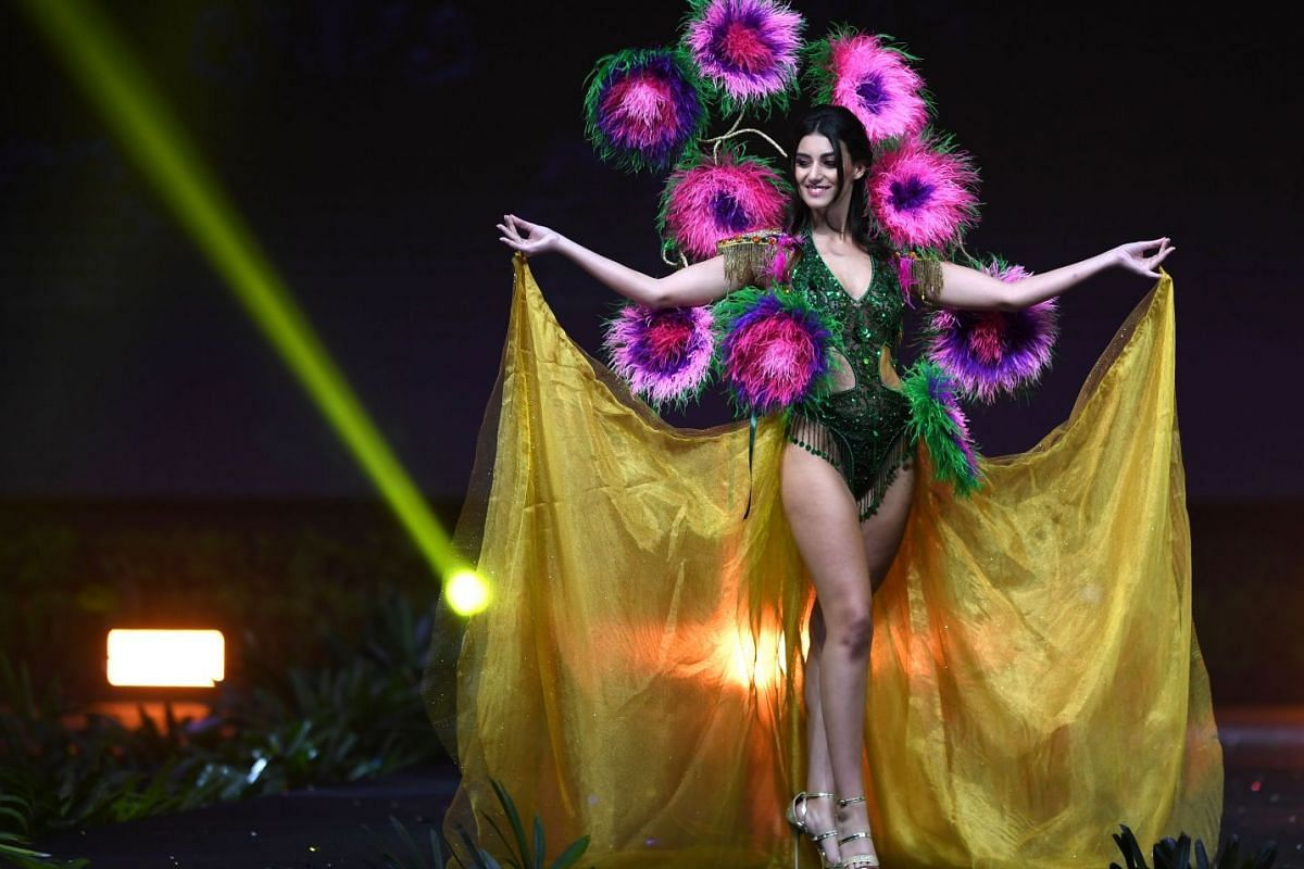 Miss Malta, Francesca Mifsud, poses on stage during the 2018 Miss Universe national costume presentation in Chonburi province on Dec 10, 2018.
