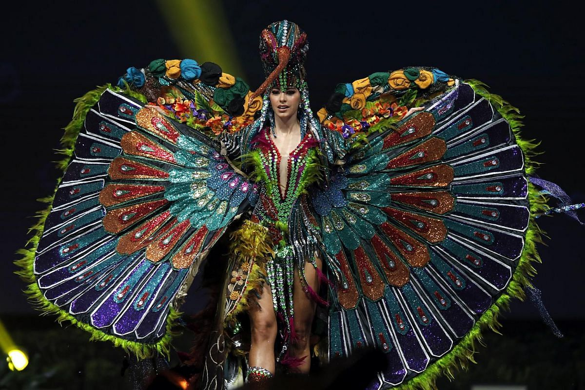 Miss Ecuador, Virginia Limongi, poses in her national costume during the Miss Universe 2018 national costume contest at Nongnooch International Convention and Exhibition Center in Pattaya, Chonburi province, Thailand, on Dec 10, 2018.