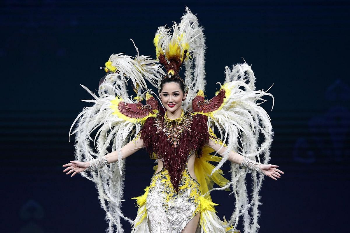 Miss Indonesia, Sonia Fergina Citra, poses in her national costume during the Miss Universe 2018 national costume contest at Nongnooch International Convention and Exhibition Center in Pattaya, Chonburi province, Thailand, on Dec 10, 2018.