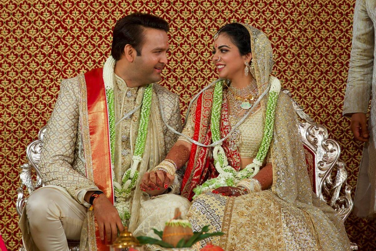 In Pictures The Wedding Ceremony Of Isha Ambani And Anand Piramal