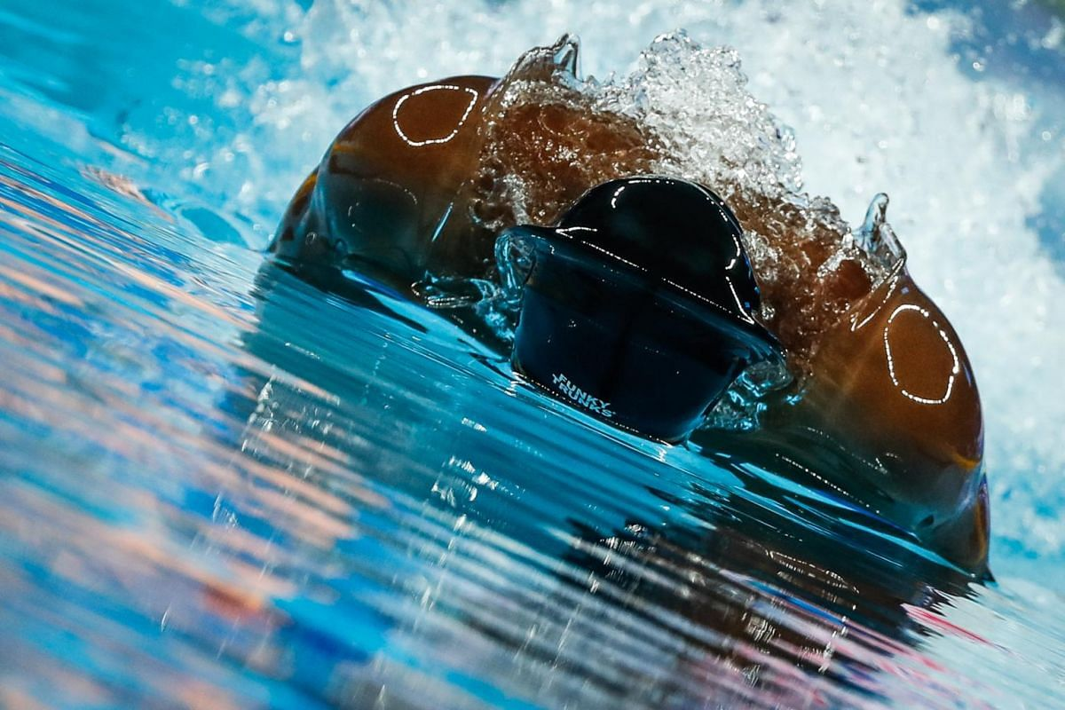 Cherantha de Silva from Sri Lanka competes in the Men's Butterfly 100m Heats during the Fina Swimming Short Course World Championships in Hangzhou, China, on Dec 12, 2018.