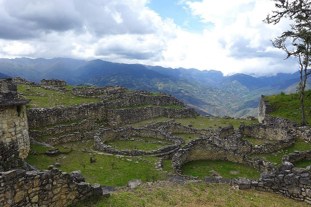 The Incan ruins of Machu Picchu (above) look regal, while the Kuelap is more rustic. The ancient fortified city of Kuelap is perched on the misty Andes at an altitude of 3,000m. Chachapoyas is surrounded by cloud forests and Andean mountains. Peruvia