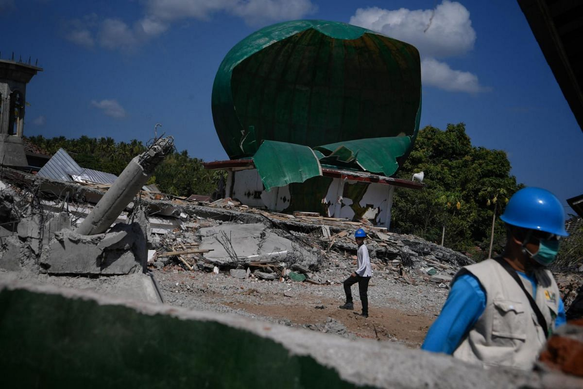 The Jabal Nur mosque in the North Lombok village of Lading-Lading which collapsed after a magnitude-7 earthquake struck the Indonesian island of Lombok on Aug 5, 2018.