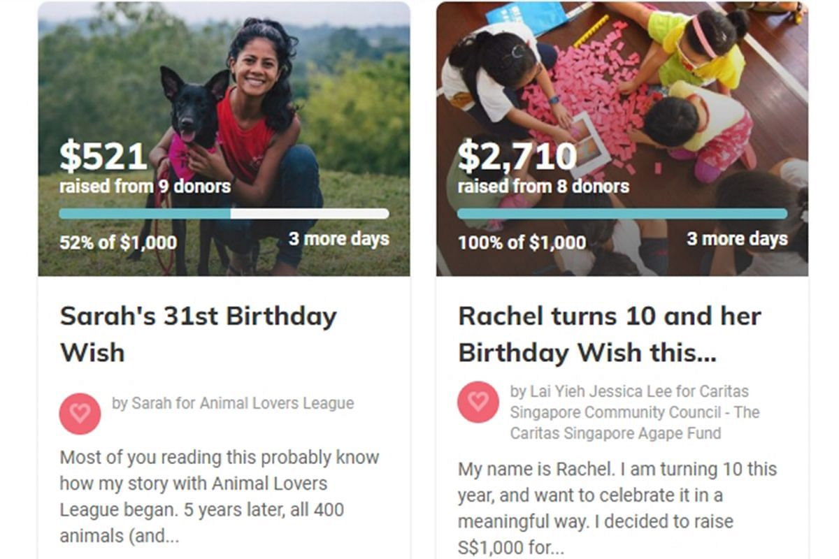 More People In Singapore Are Forgoing Birthday Presents Opting Instead To Channel The Money A Good Cause