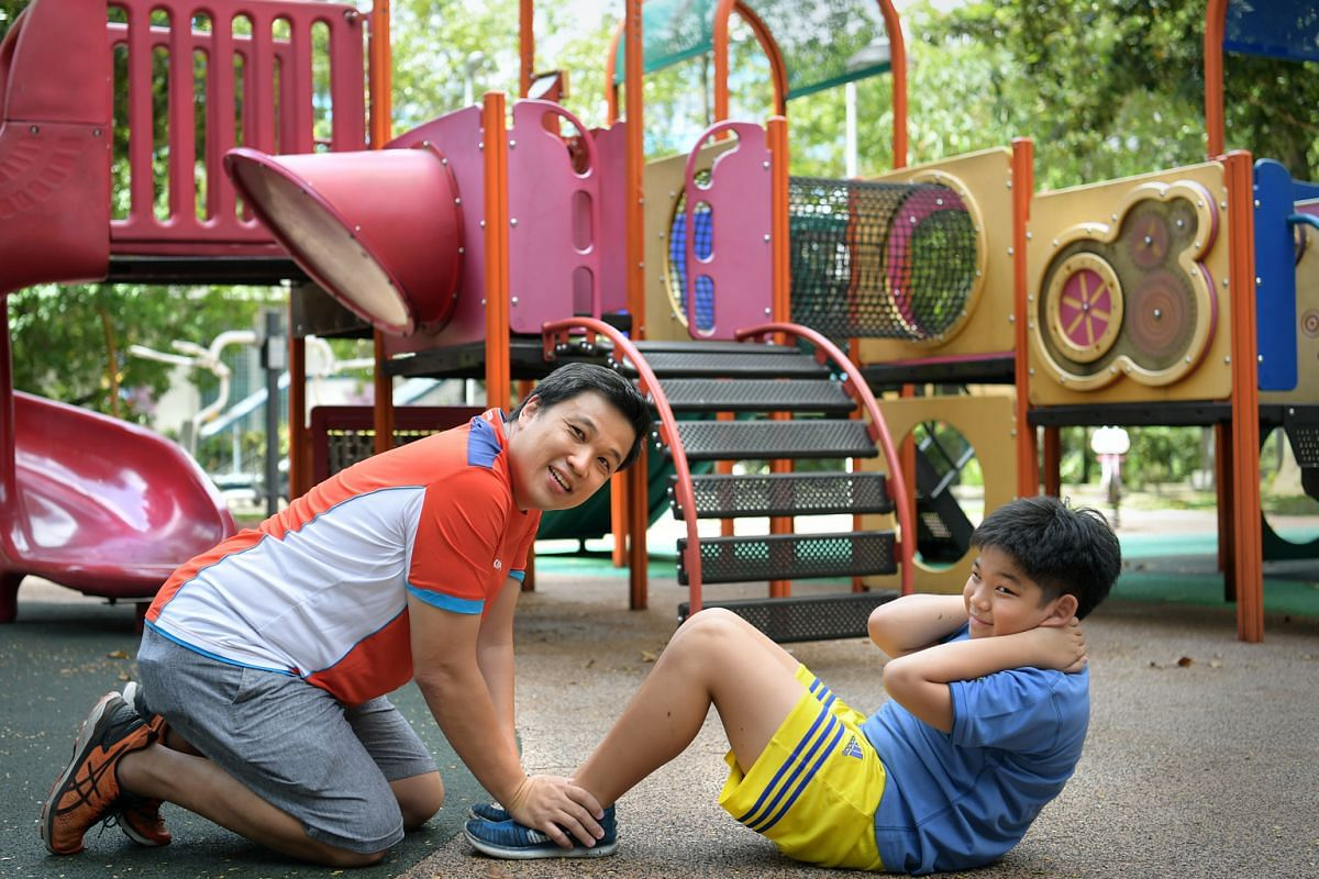 At the beginning of this year, Mr Kelvin Ang, his son Ayden, 12, and their family decided to exercise more together and have largely achieved it.