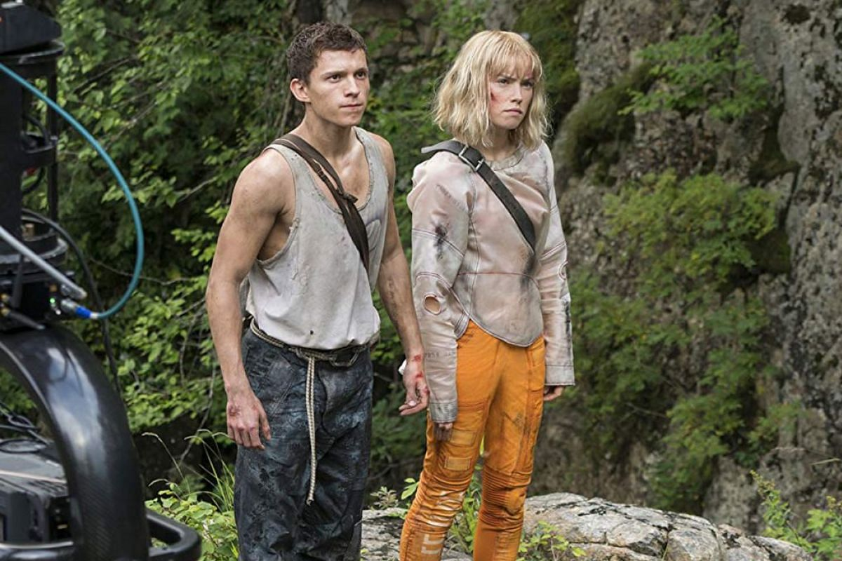 Tom Holland and Daisy Ridley filming for Chaos Walking.