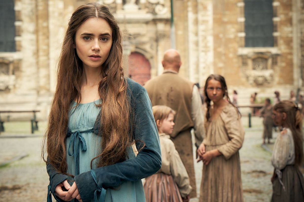 Lily Collins stars as the tragic single mother Fantine in the BBC adaptation of Victor Hugo's Les Miserables.
