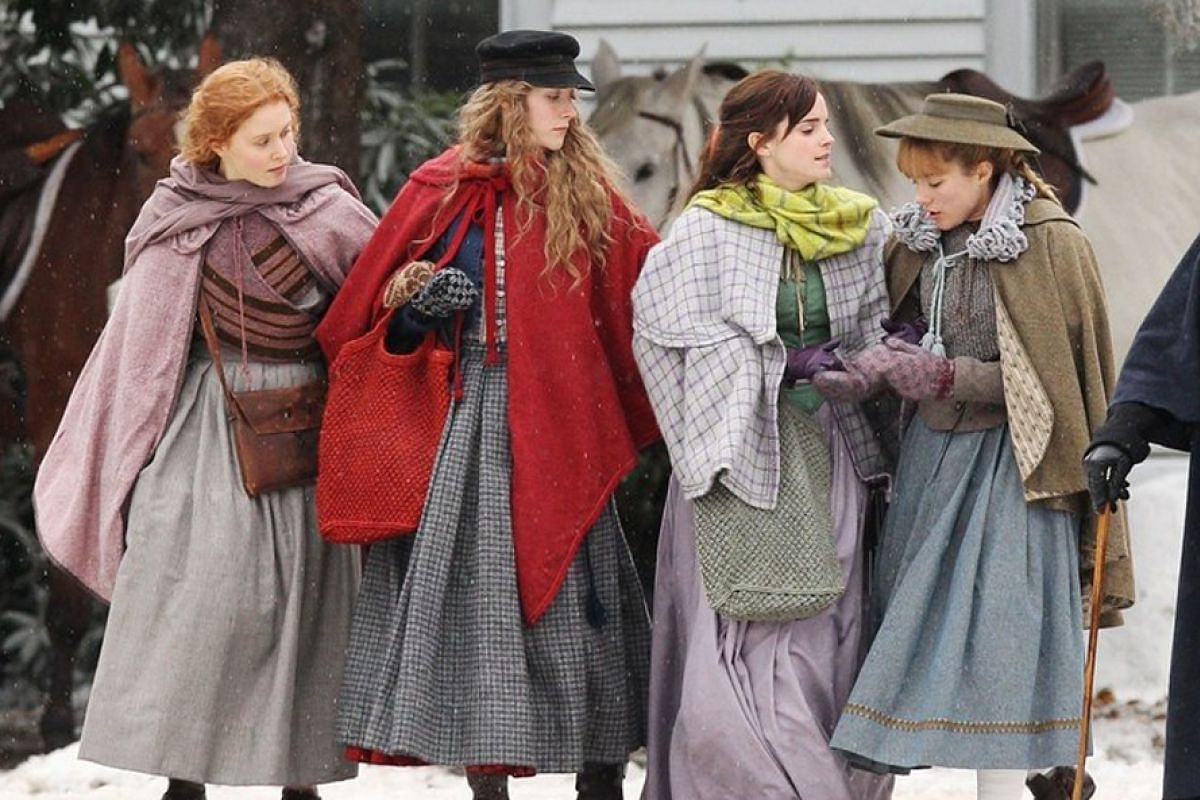 Starring in this year's Little Women are (from left) Eliza Scanlan, Saoirse Ronan, Emma Watson and Florence Pugh.