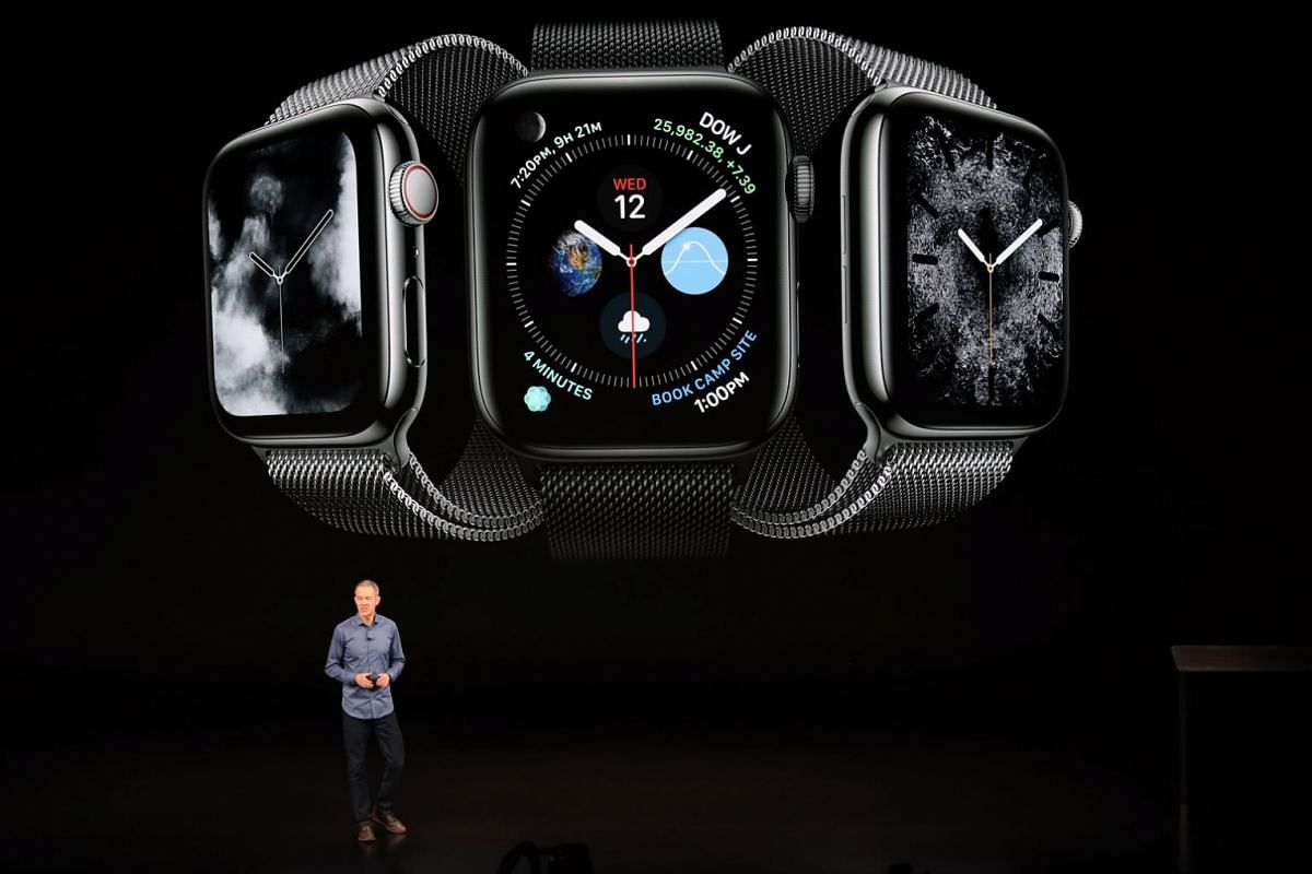 Apple's chief operating officer Jeff Williams at a presentation of the new smartwatch Apple Watch Series in California in September last year.