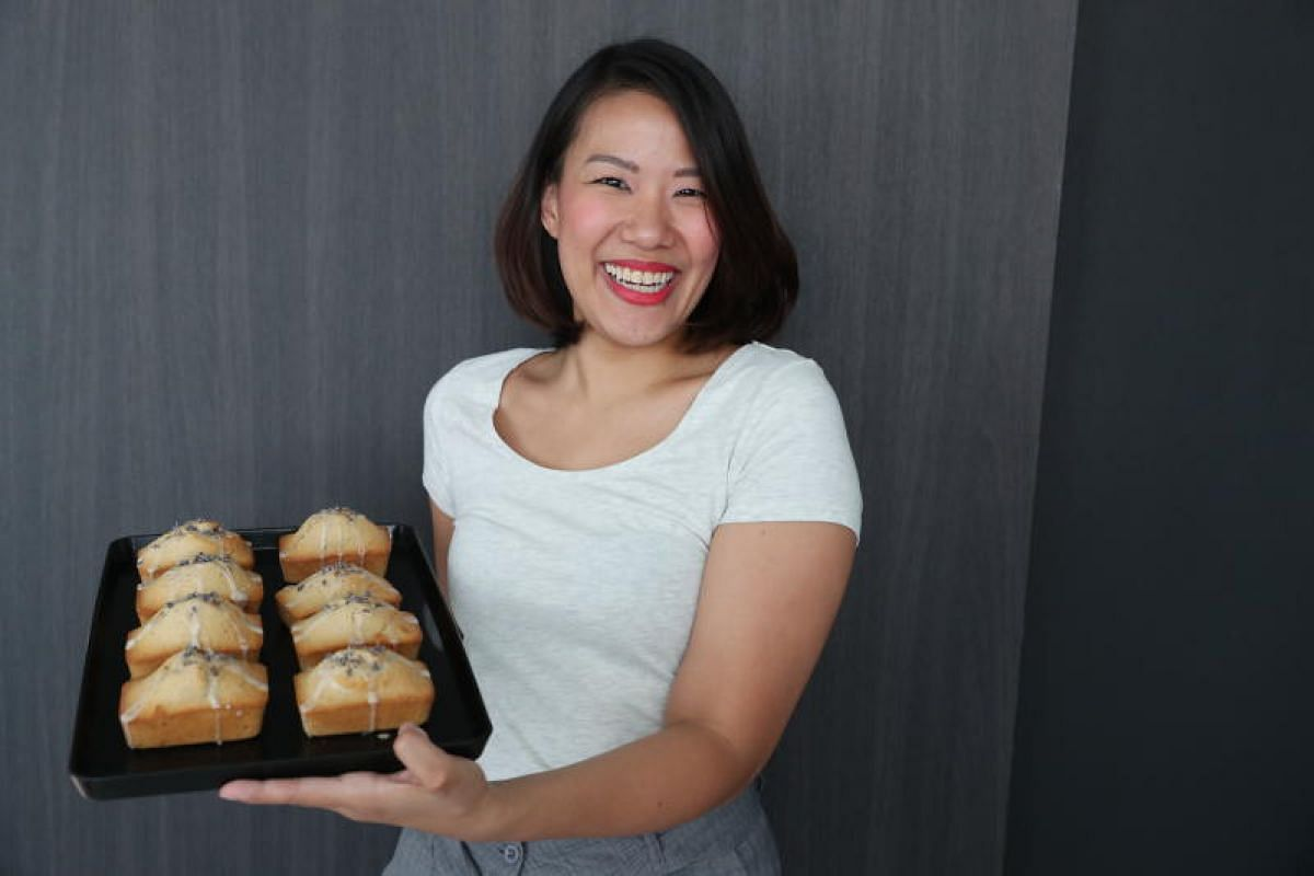 Ms Sarah Tan's love for baking started in primary school, when she first learnt how to bake an orange butter cake from her mother.