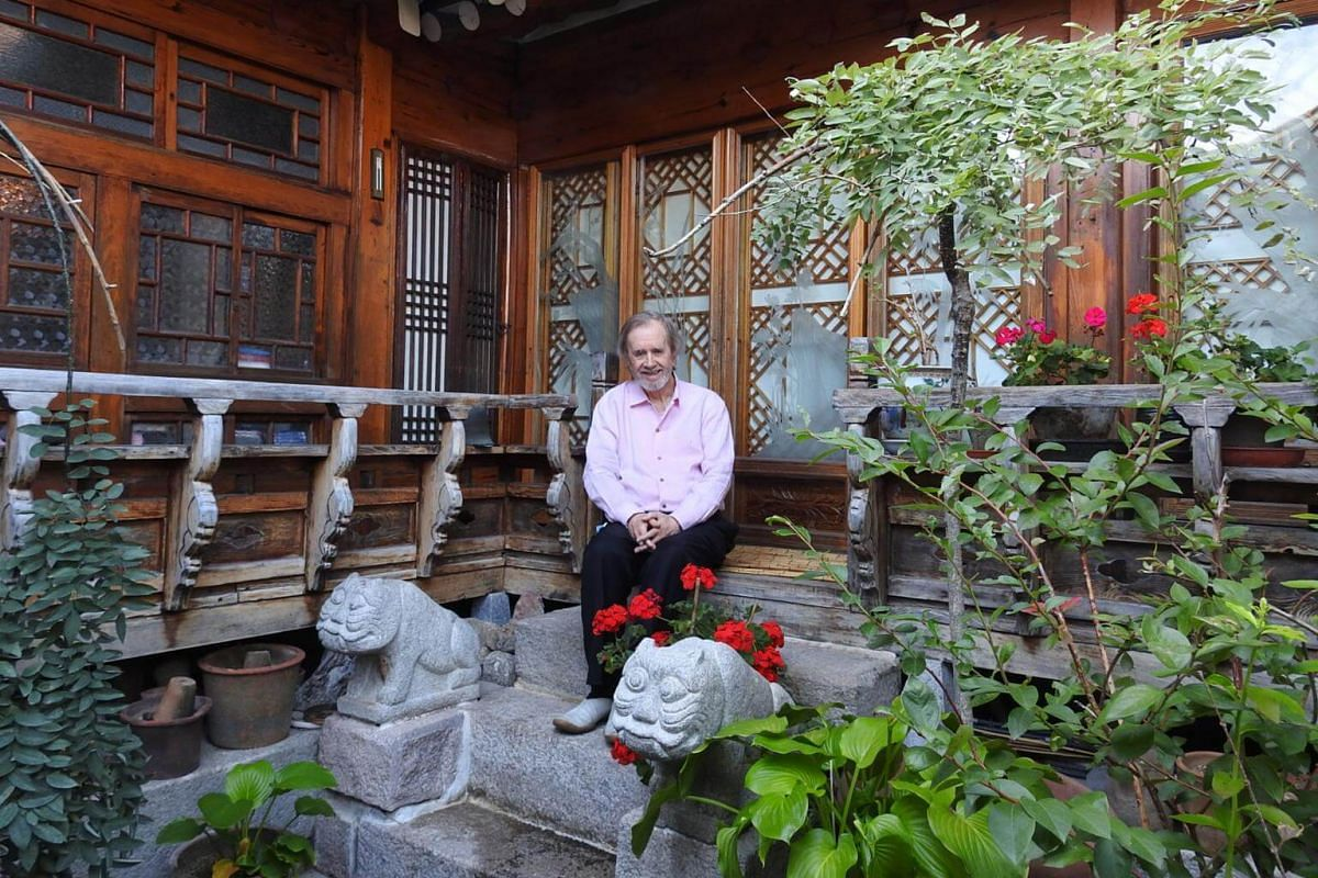 Former British journalist David Kilburn in the 80-plus-year-old hanok he lives with his Korean wife in Bukchon, central Seoul.