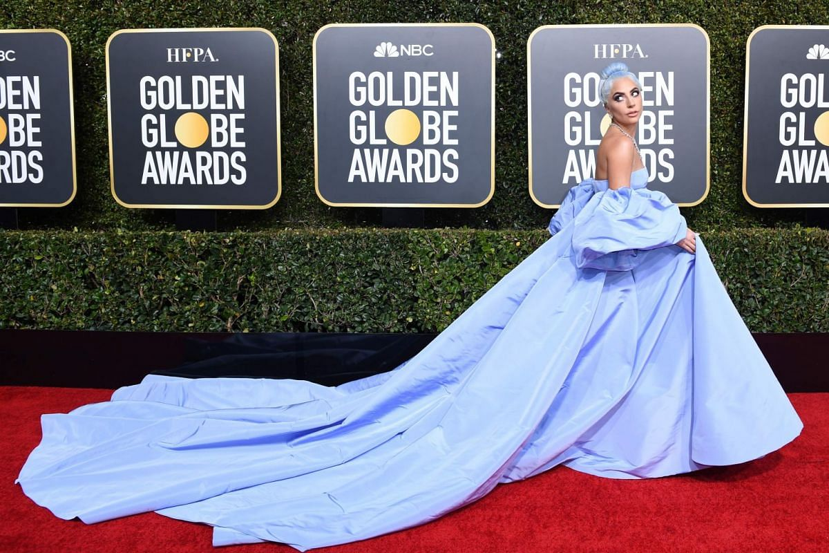 Best Actress in a Movie (Drama) nominee Lady Gaga arrives at the 76th annual Golden Globe Awards in California on Jan 6, 2019.
