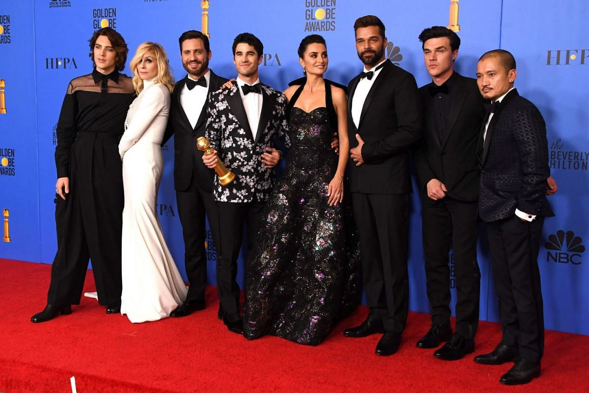 The cast of The Assassination Of Gianni Versace, winner of Best Limited Series or Motion Picture Made for Television.