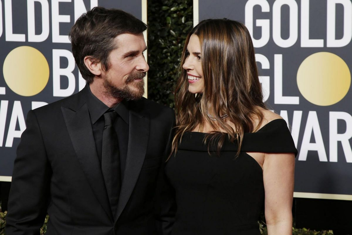 Best Actor in a Movie (Musical or Comedy) nominee Christian Bale and his wife Sibi Blazic arrive at the Golden Globe Awards. Bale went on to win the award.