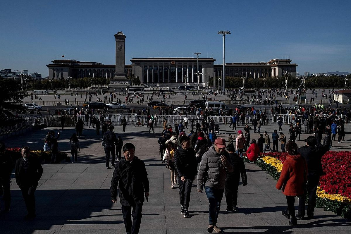 """Tiananmen square in Beijing. Chinese citizens have far more respect for their government than Americans do. As a Chinese scholar said: """"Chinese people don't love their government, but they trust it."""""""