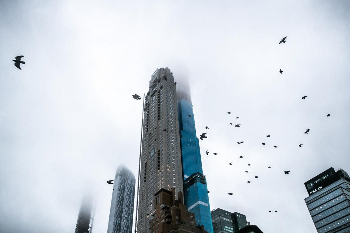 220 Central Park South tower, seen from Columbus Circle in Manhattan, on Jan 24, 2019. Hedge fund tycoon Ken Griffin recently paid US$238 million (S$323.2 million) for a penthouse in the building, setting a record.