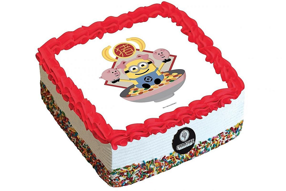 Cold Stone Creamery: Limited-edition Despicable Me ice cream cakes that feature the 12 zodiac animals ($65 or $90 in store).