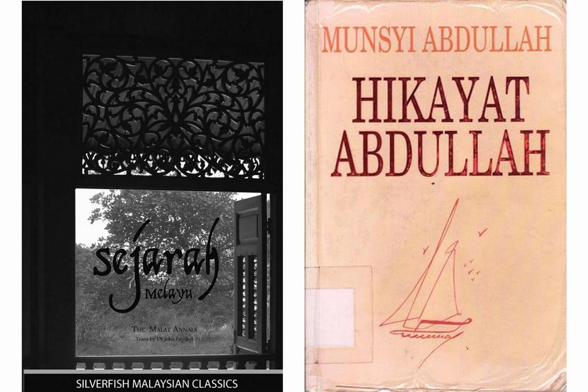 (Left) The Malay Annals: Sejarah Melayu. (Right) Hikayat Abdullah.