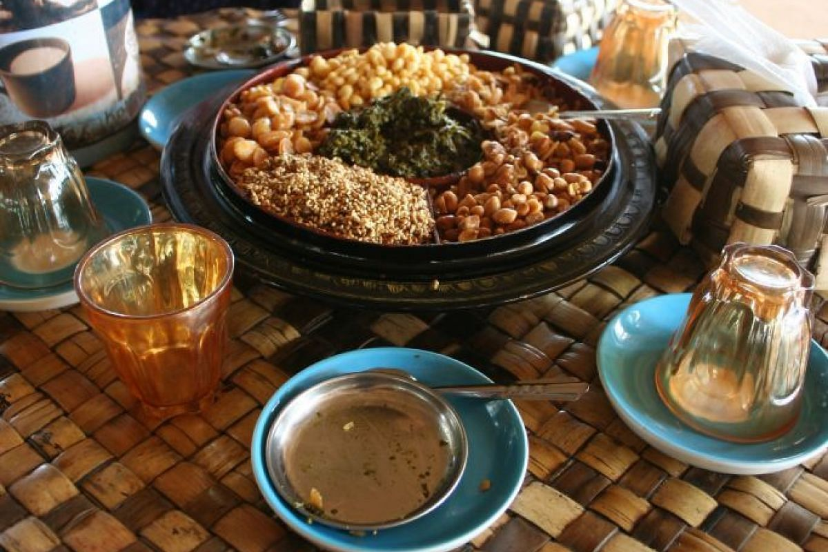 The pickled tea leaf salad is popular with locals and tourists alike.