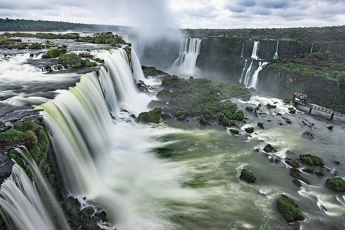 Iguazu Falls, Border of Argentina and Brazil.