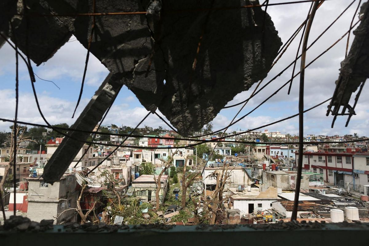 A view on Jan 28, 2019 shows the aftermath of a tornado that ripped through a neighbourhood in Havana, Cuba.