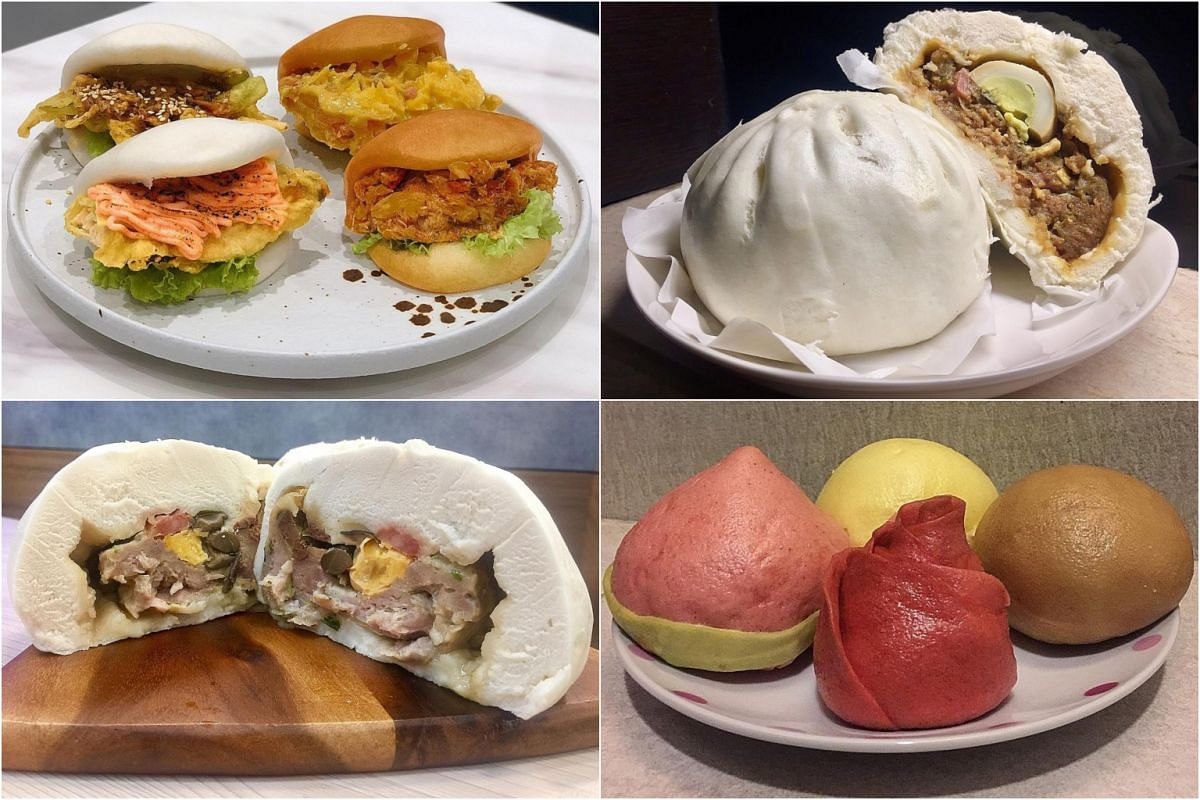 (Clockwise from top left) Steamed buns from The Bao Makers Cafe & Bakery, Nam Kee Pau, Dough Magic and Redstar Restaurant.