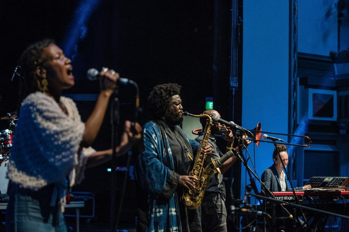 Kamasi Washington performing at Capitol Theatre.