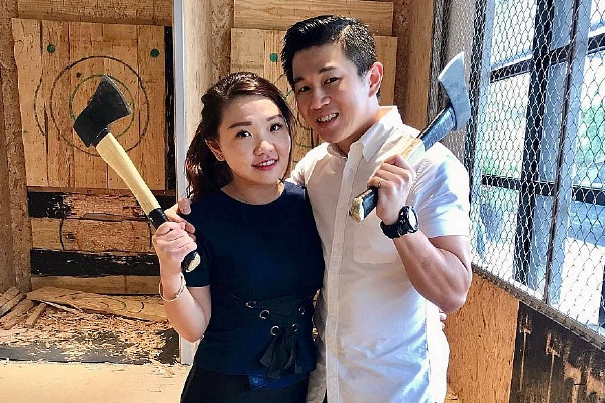 Safety officer Vincent Wong and his wife celebrated his birthday on a doughnut-like boat from The Floating Donut Company. The Monarchy bar celebrates everything British. Singapore's first rage room, The Fragment Room, allows couples to smash crates o