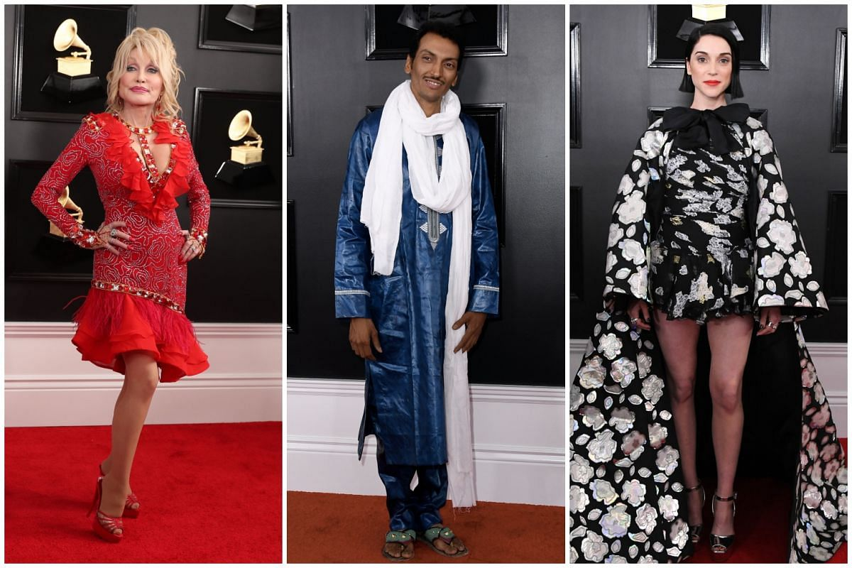 (From left) Dolly Parton, Bombino and St. Vincent.