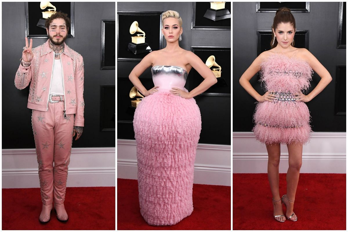 (From left) Post Malone, Katy Perry and Anna Kendrick.