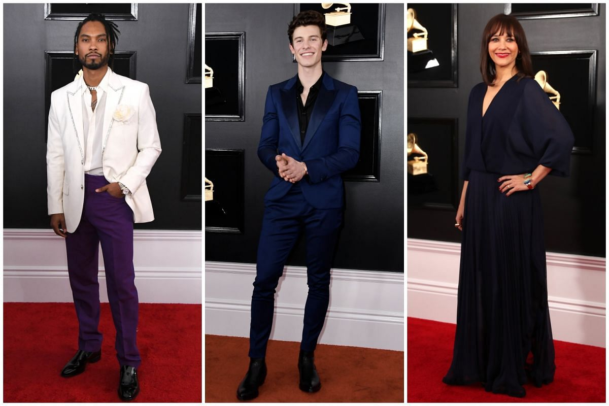 (From left) Miguel, Shawn Mendes and Rashida Jones.
