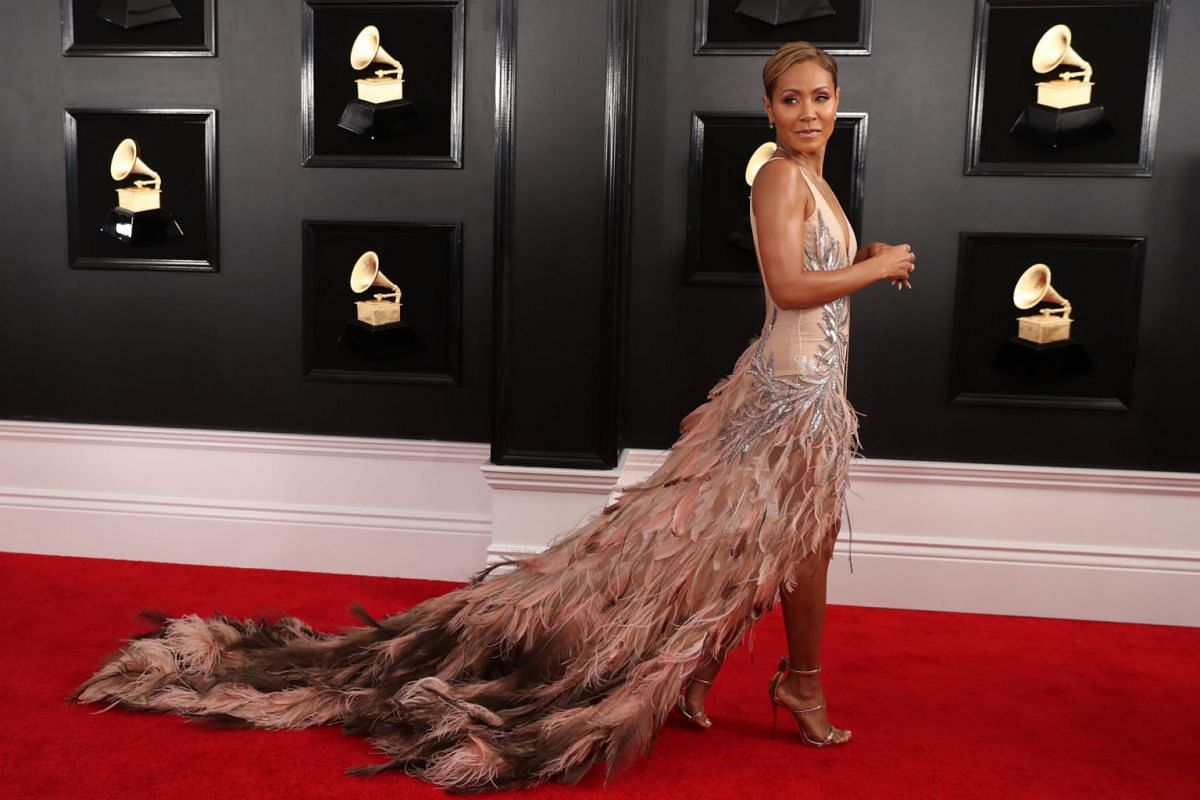 Actress Jada Pinkett Smith on the red carpet at the 61st Grammy Awards on Feb 10, 2019.