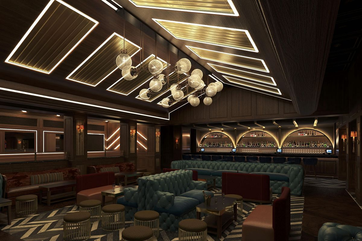 A rendering of speakeasy-style lounge Avenue, which will open in May in Marina Bay Sands.