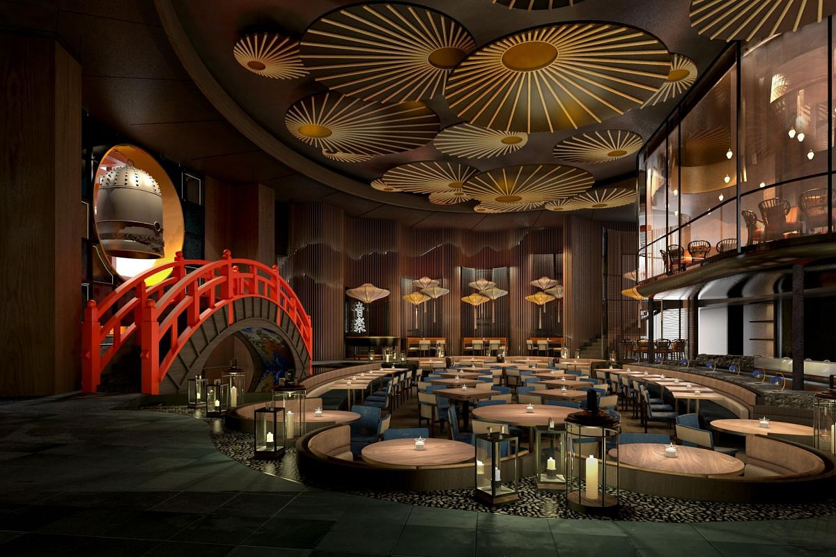 A rendering of Japanese eatery and sushi bar, Koma, which will open within 2019 in Marina Bay Sands.
