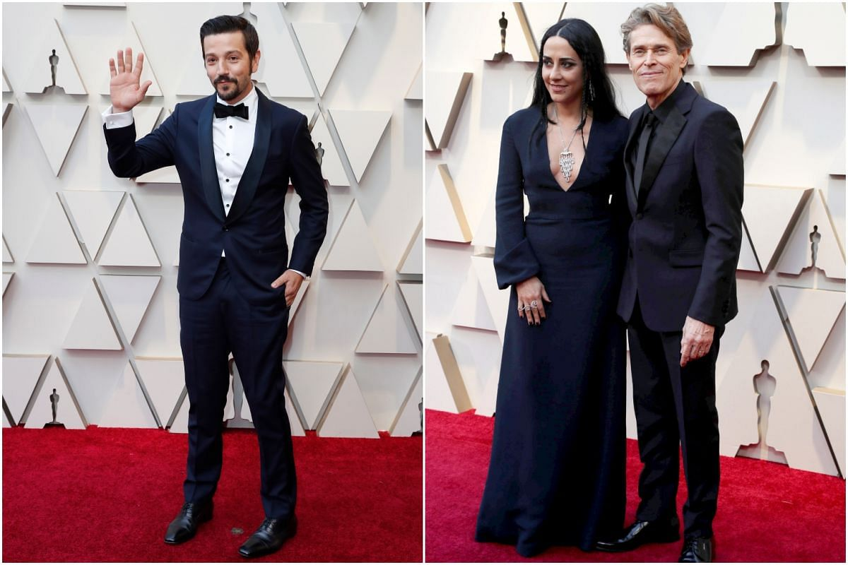 (From left) Diego Luna, and Giada Colagrande with her husband Willem Dafoe.