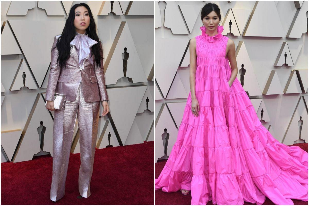 Crazy Rich Asians stars Awkwafina (left) and Gemma Chan.