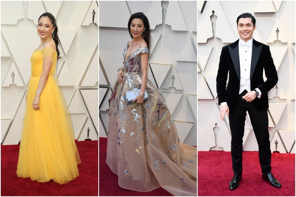 (From left) Crazy Rich Asians stars Constance Wu, Michelle Yeoh and Henry Golding.