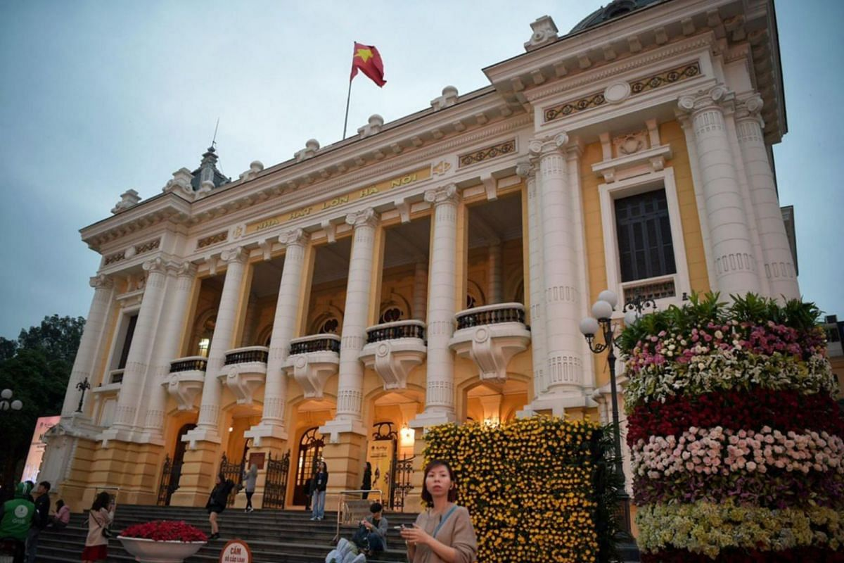 Hanoi Opera House, where Mr Trump and Mr Kim may have dinner together on Wednesday before their Thursday summit.