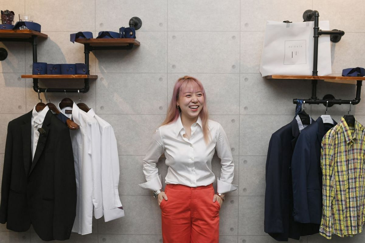 Ms Sheryl Yeo, who did a two-year tailoring apprenticeship to break into the male-dominated trade, started custom garment label 3Eighth in November.