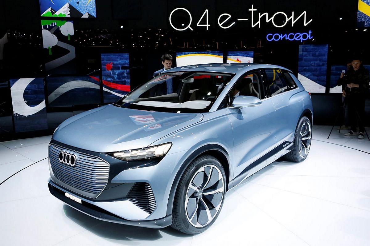 The new Audi Q4 E-Tron Concept.