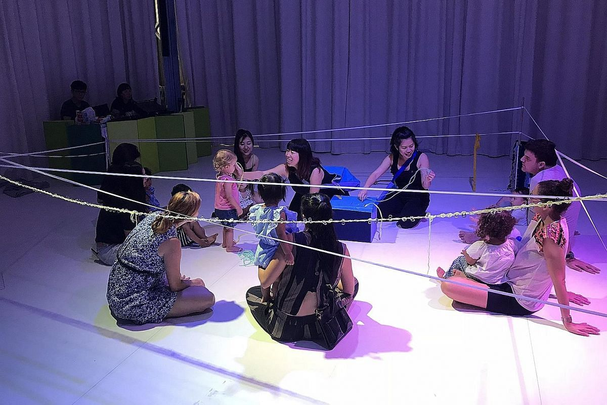 TUG, a performative play session at The Artground for toddlers, uses music, creativity and the everyday material of strings to build relationships.