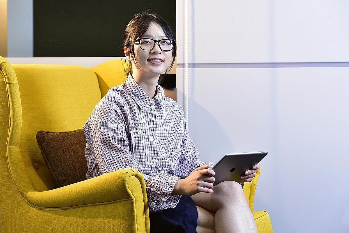 Ms Ann Luo, founder and chief executive of CodingGirls, a community coding organisation in Singapore, said perception is slowly shifting here. Ms Toh Hui Min (far left) quit her job in the finance industry to become a developer after attending a codi