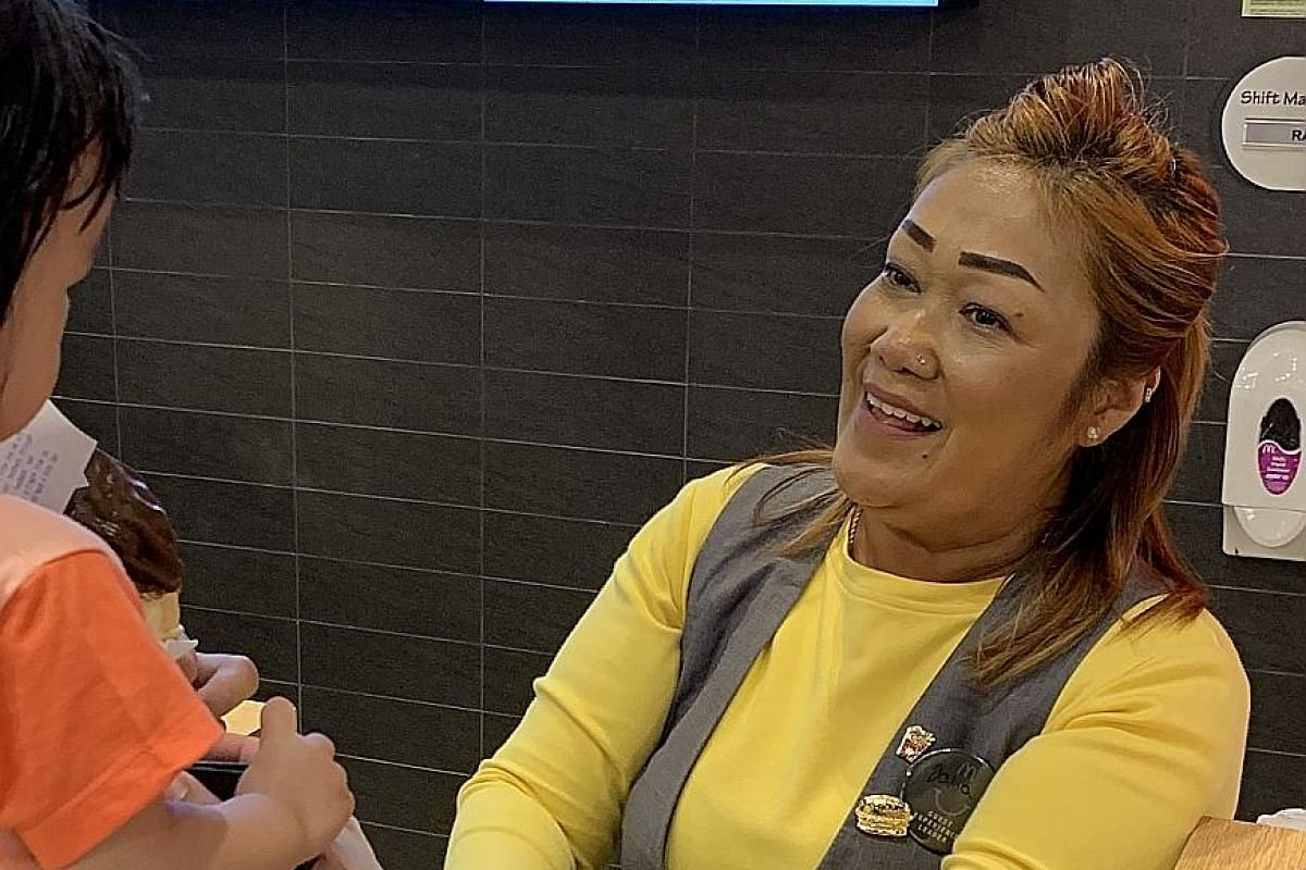 Ms Daliya Latiff, a guest experience leader at the Aperia Mall restaurant, went through an eight-week programme where she learnt to be a service expert and a brand ambassador, among other things.