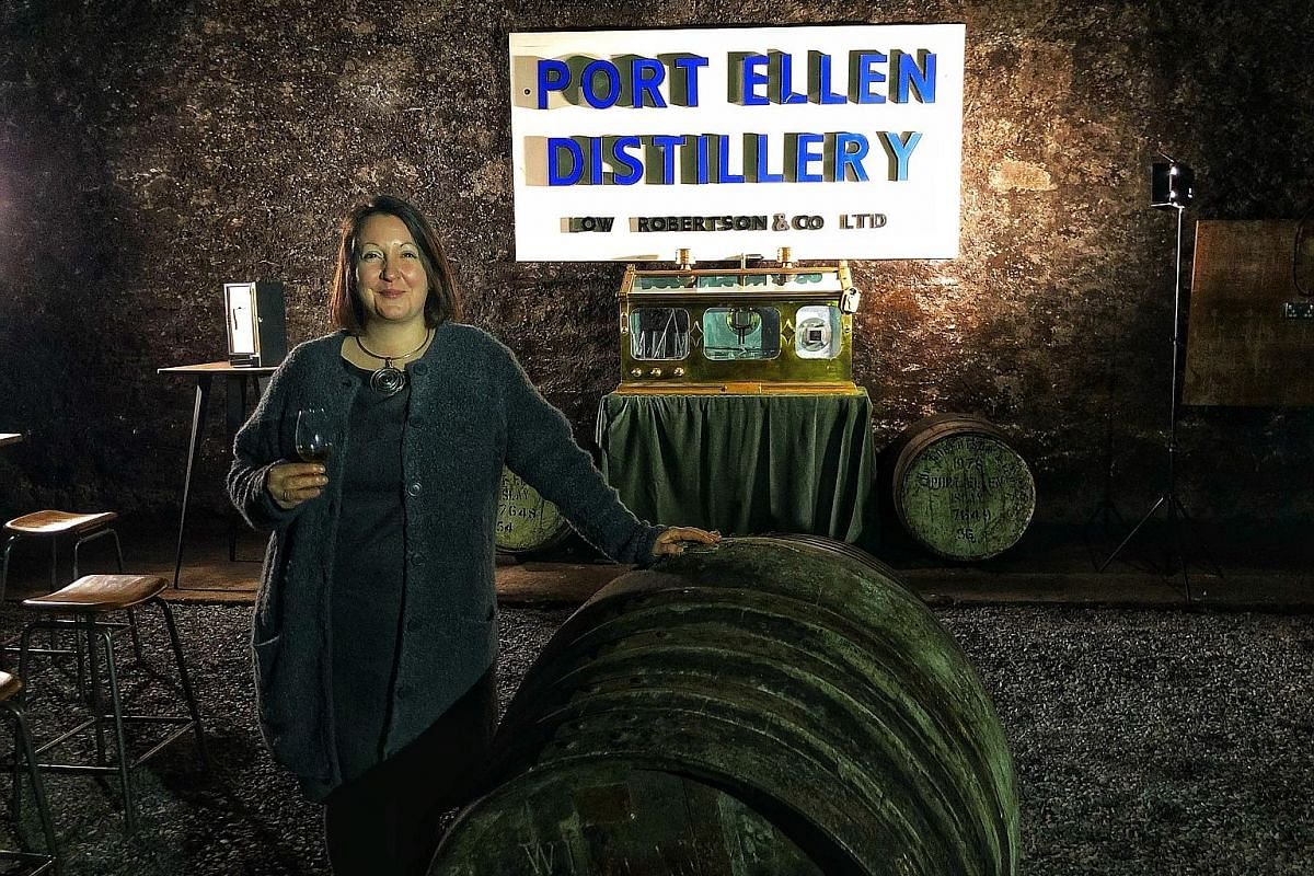 A conceptual drawing (above) of the new Port Ellen distillery. Ms Georgie Crawford is Port Ellen distillery's project implementation manager.