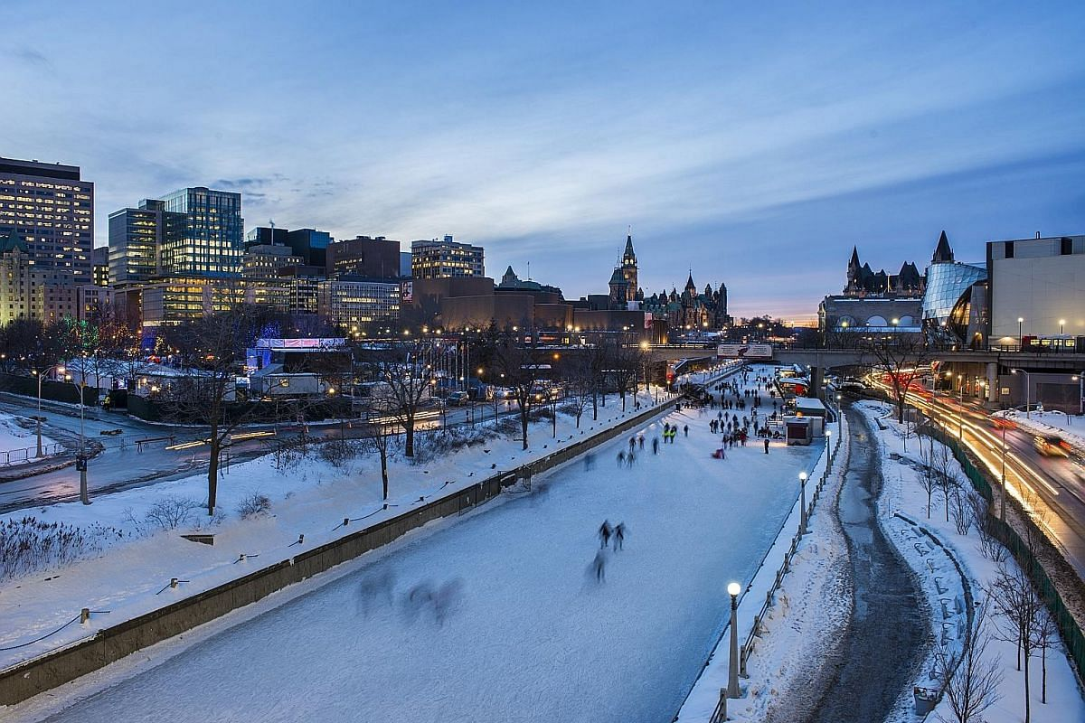 Skate in the Rideau Canal, which boasts a 7.8km-long skating rink that is the world's largest naturally frozen skating destination.