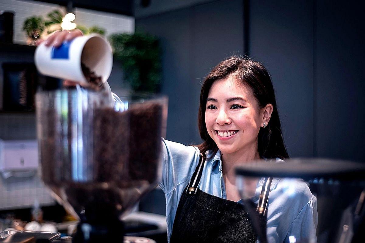Ms Alexandra Eu runs coffee bar Mavrx, which opened last December, with her husband.