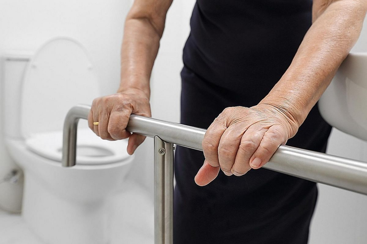 Installing grab bars in the bathroom can help prevent falls.
