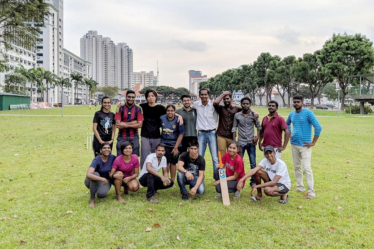 Co-founded in 2016 by Singaporeans Hema Kalamogan and Shobana Sreetharan, Vaangae Anna is an initiative which sees migrant worker volunteers teaching Singaporeans to play cricket every month at a field near Boon Keng MRT station. Ms Saza Faradilla (l